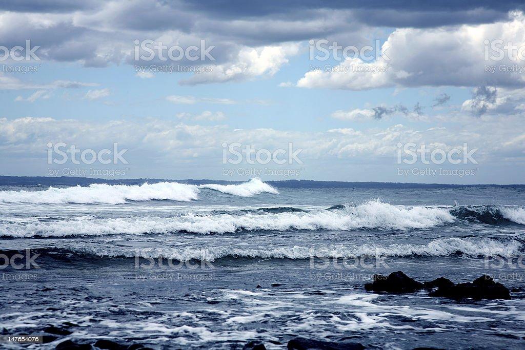 Stürmischen Meer Lizenzfreies stock-foto