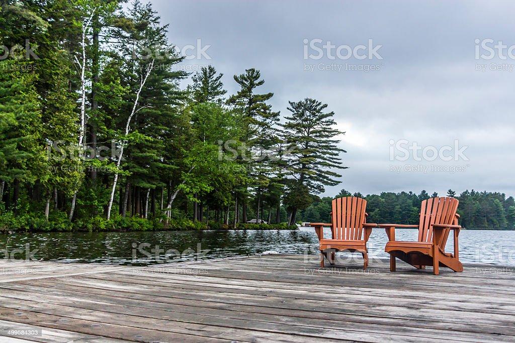 Stormy Seats stock photo