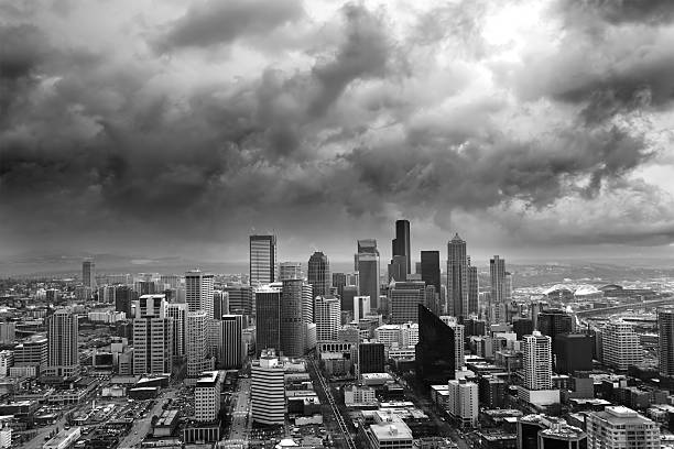seattle weather seattle rain storm weather pictures images and stock photos istock