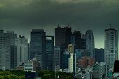 Stormy Shinjuku Skyline