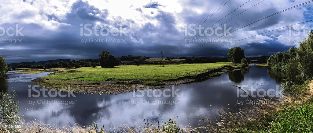Stormy Skies above Monmouthshire stock photo