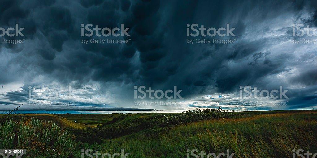 Stormy Skies on the Prairies stock photo