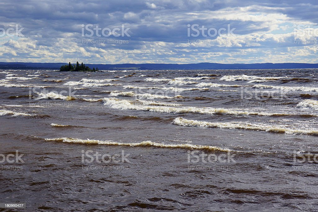 Stormy sky and waters royalty-free stock photo