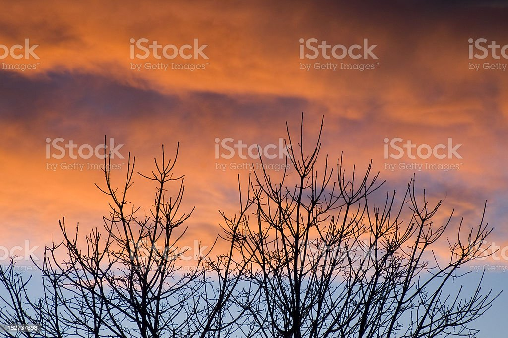 Stormy Sky at Alpenglo royalty-free stock photo