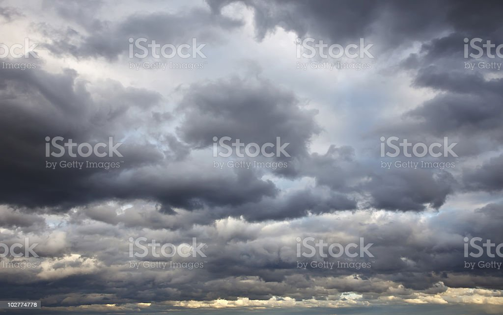 Stormy sky stock photo