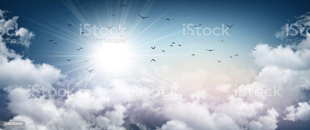 Stormy sky sensation stock photo