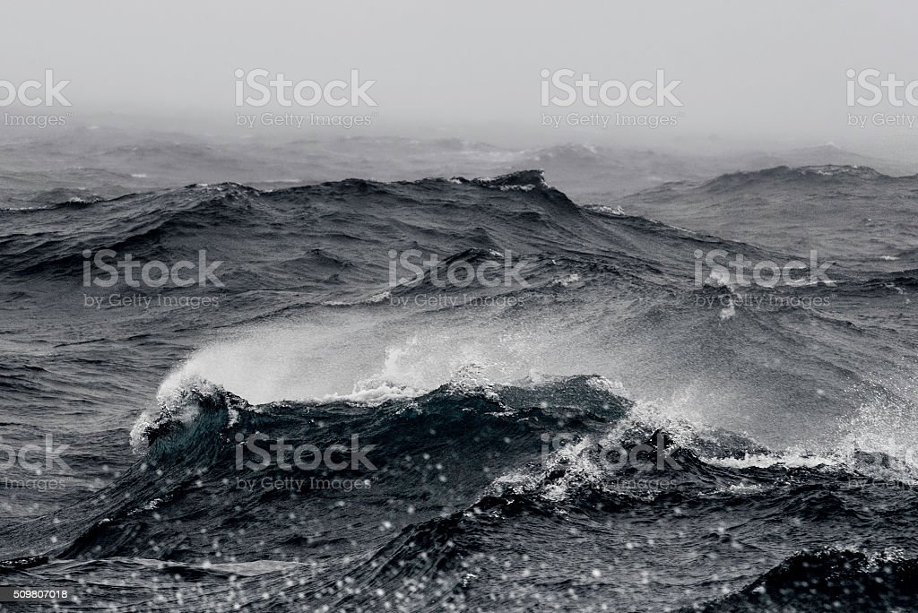 Stormy Southern Ocean stock photo