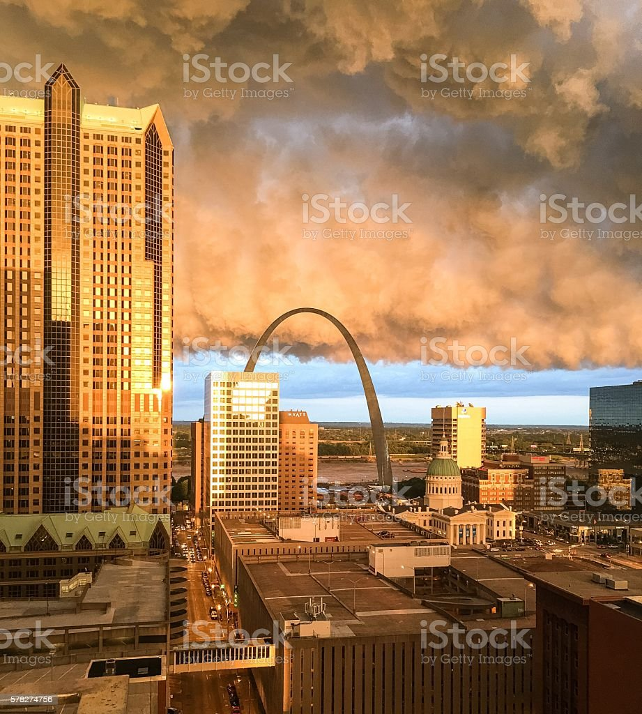Stormy St Louis stock photo