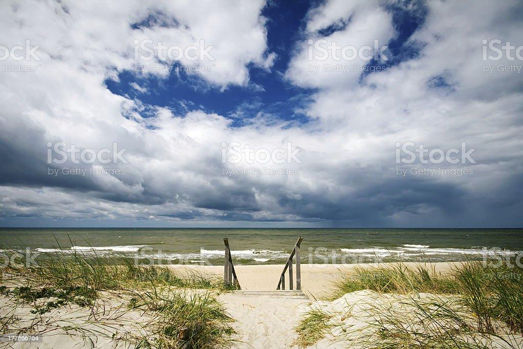Stormy summer sea royalty-free stock photo