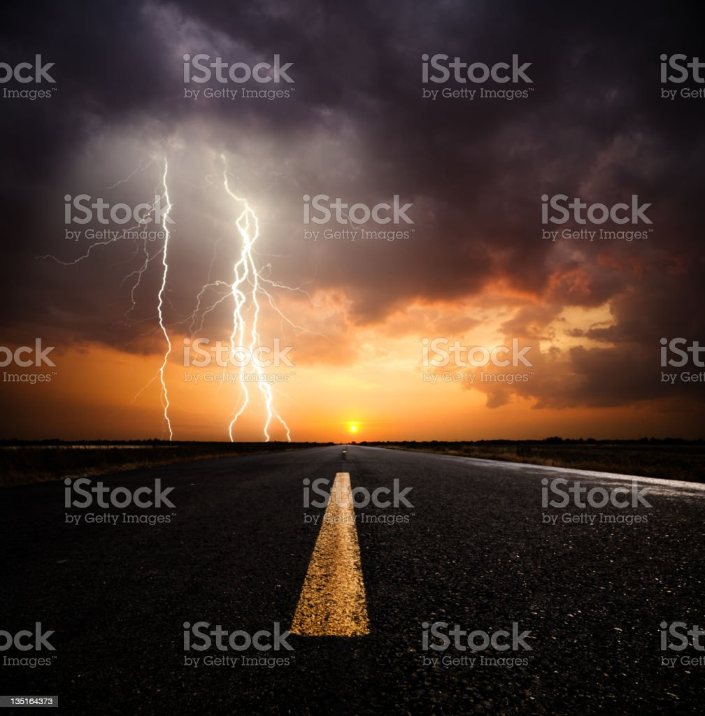 Stormy Sunset stock photo
