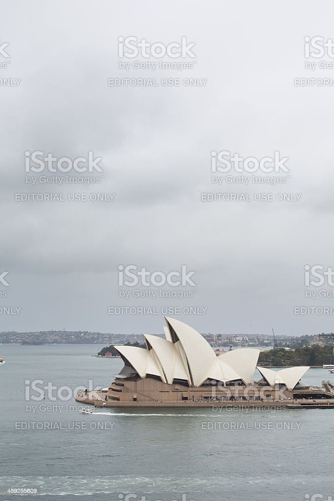 Stormy Sydney Opera House royalty-free stock photo