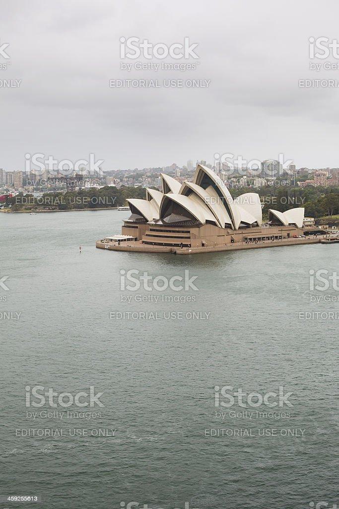 Stormy Sydney Opera House royalty-free stock photo