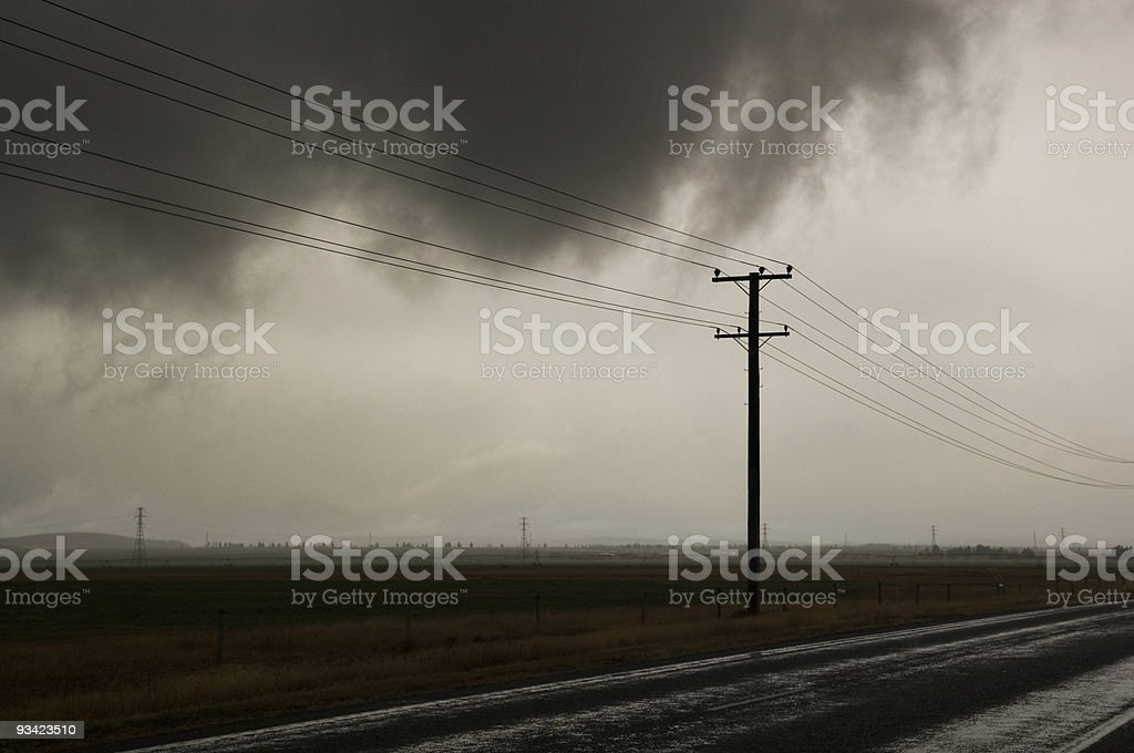 Stormy Telegraph Road royalty-free stock photo