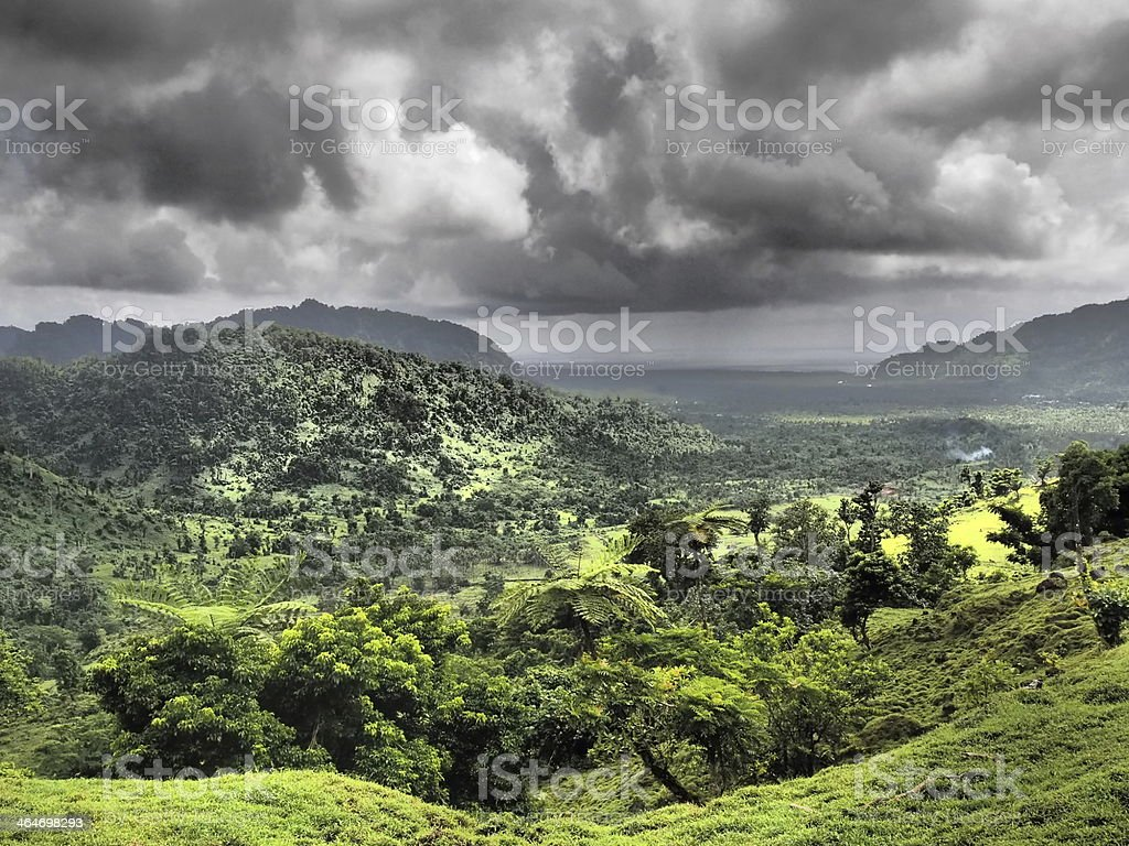 Stormy valley royalty-free stock photo