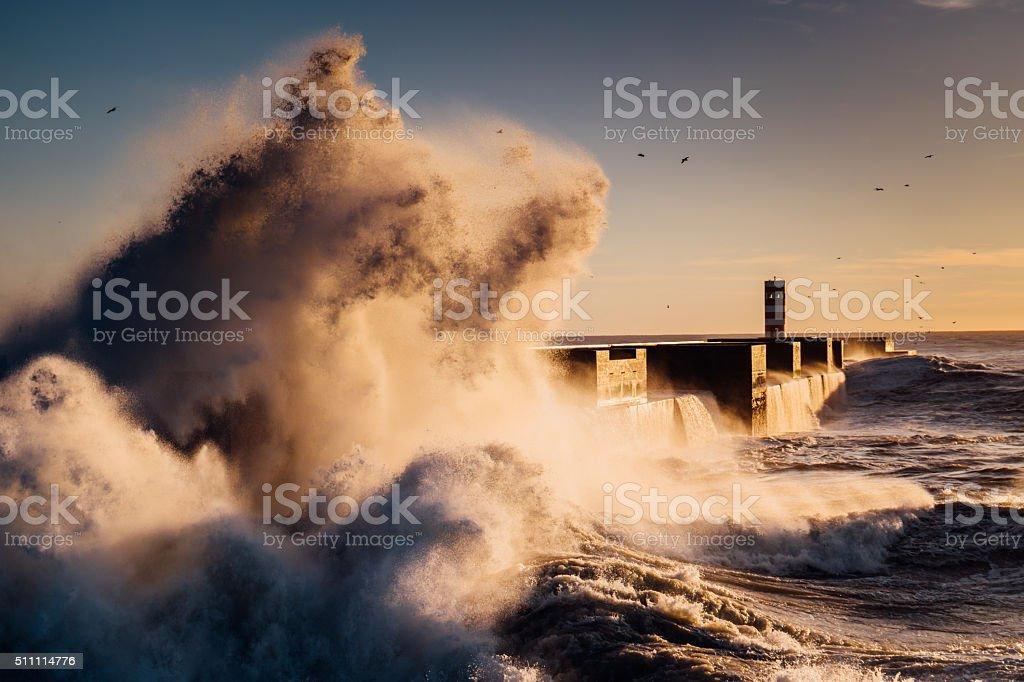 Stormy wave stock photo