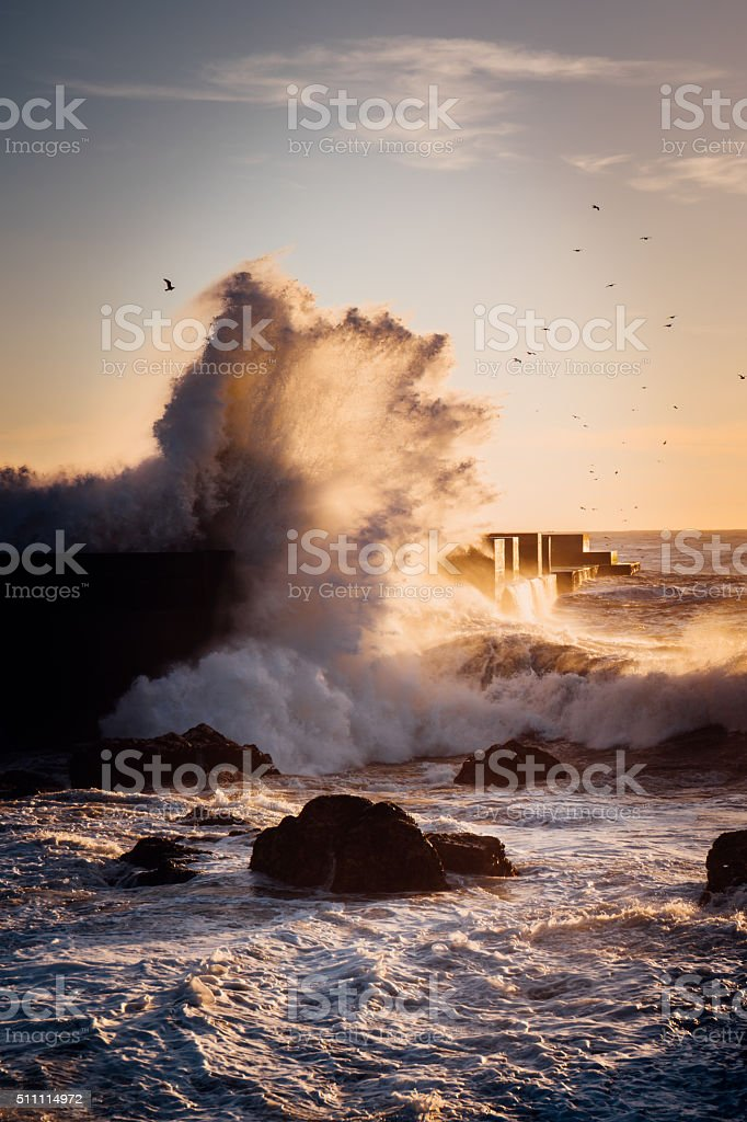Stormy wave stock photo