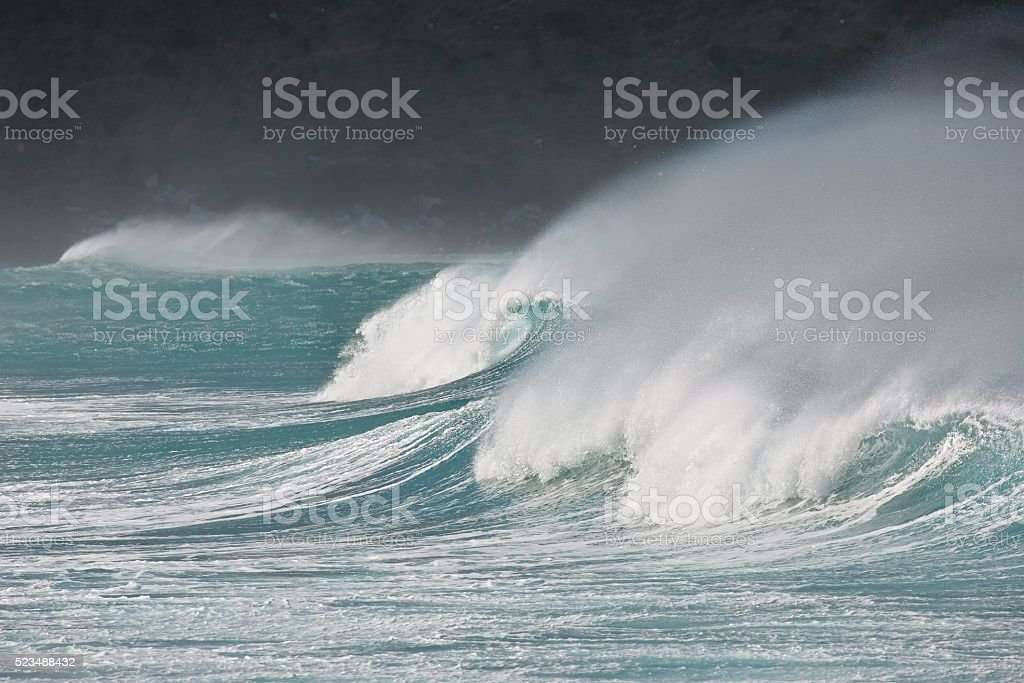 Stormy Waves Breaking stock photo