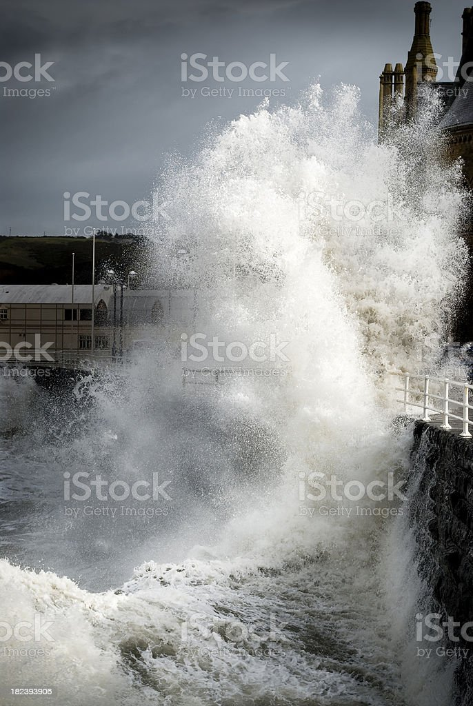 Stormy weather and big wave royalty-free stock photo