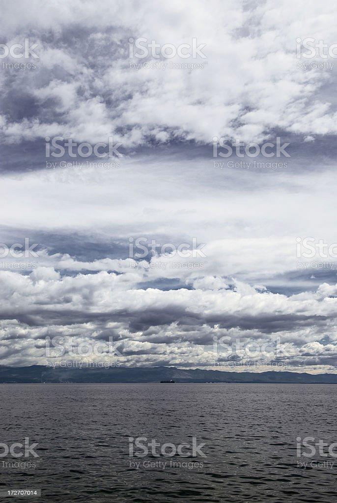 Stormy Weather over Mediterranean stock photo