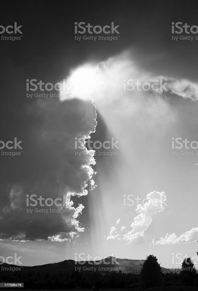 Stormy Weather With Clouds royalty-free stock photo