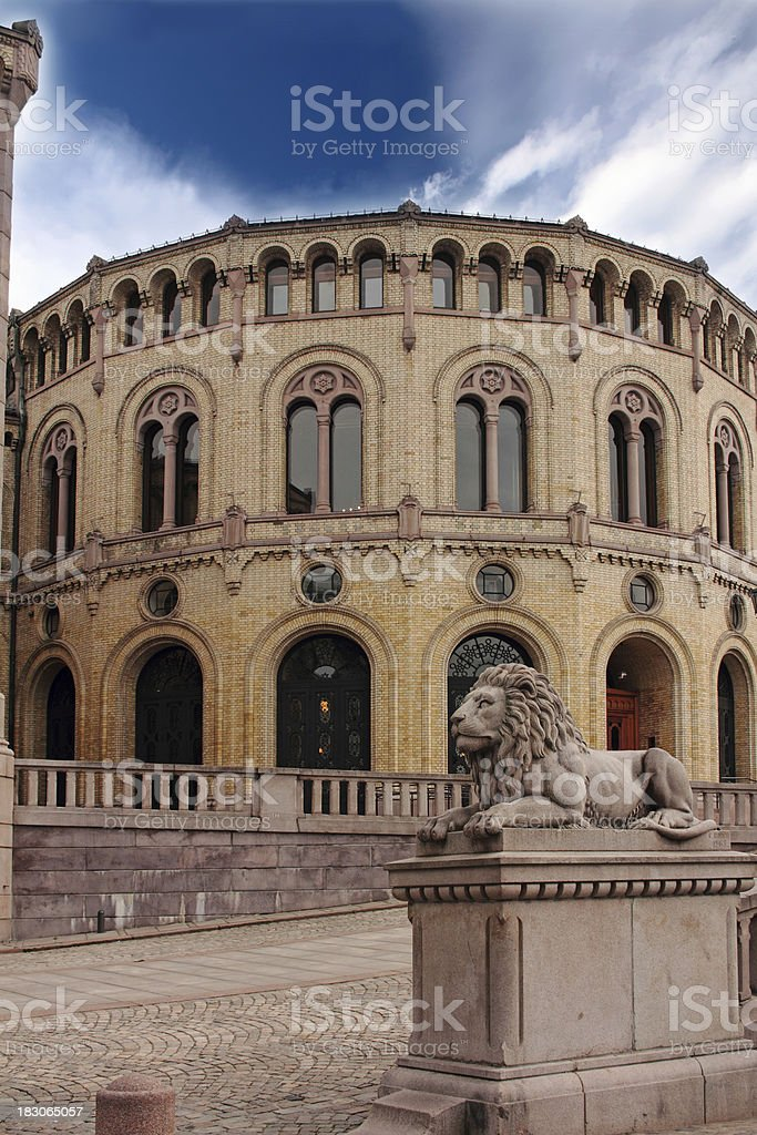 Stortinget, Norway's Parliament royalty-free stock photo