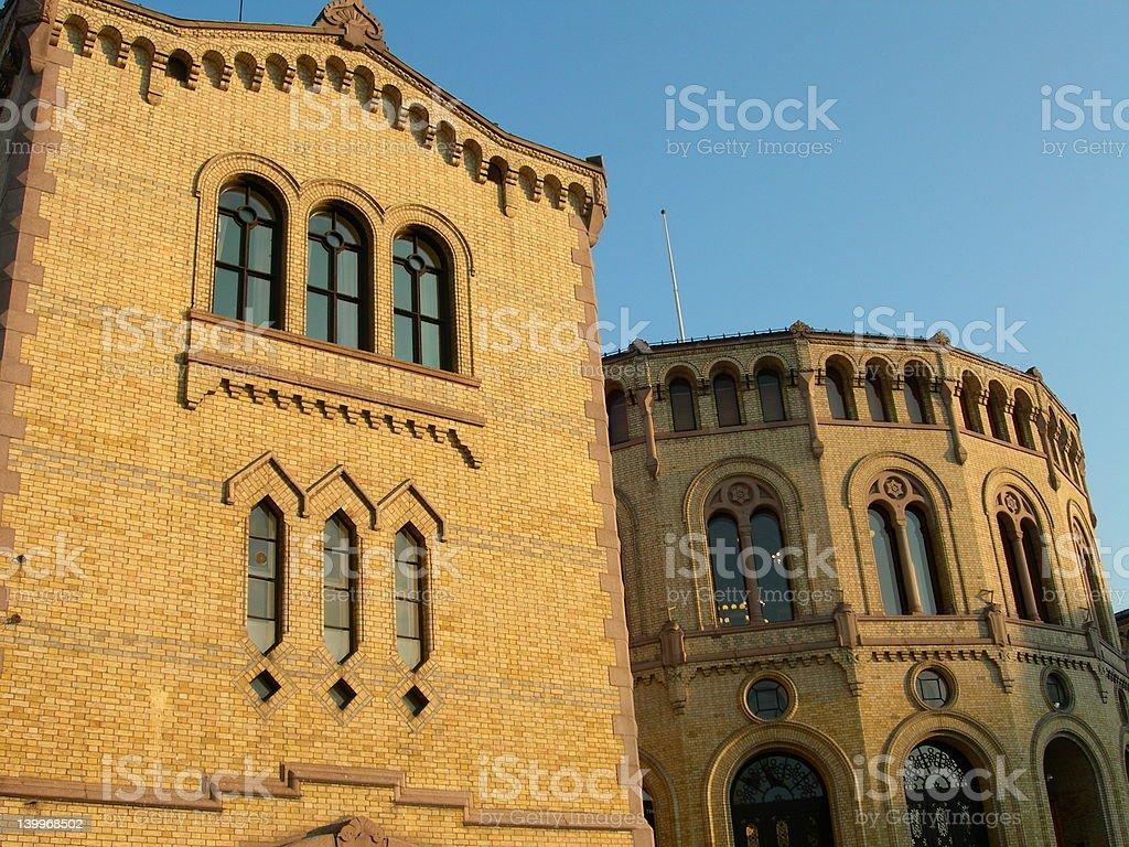 Stortinget, Oslo. royalty-free stock photo