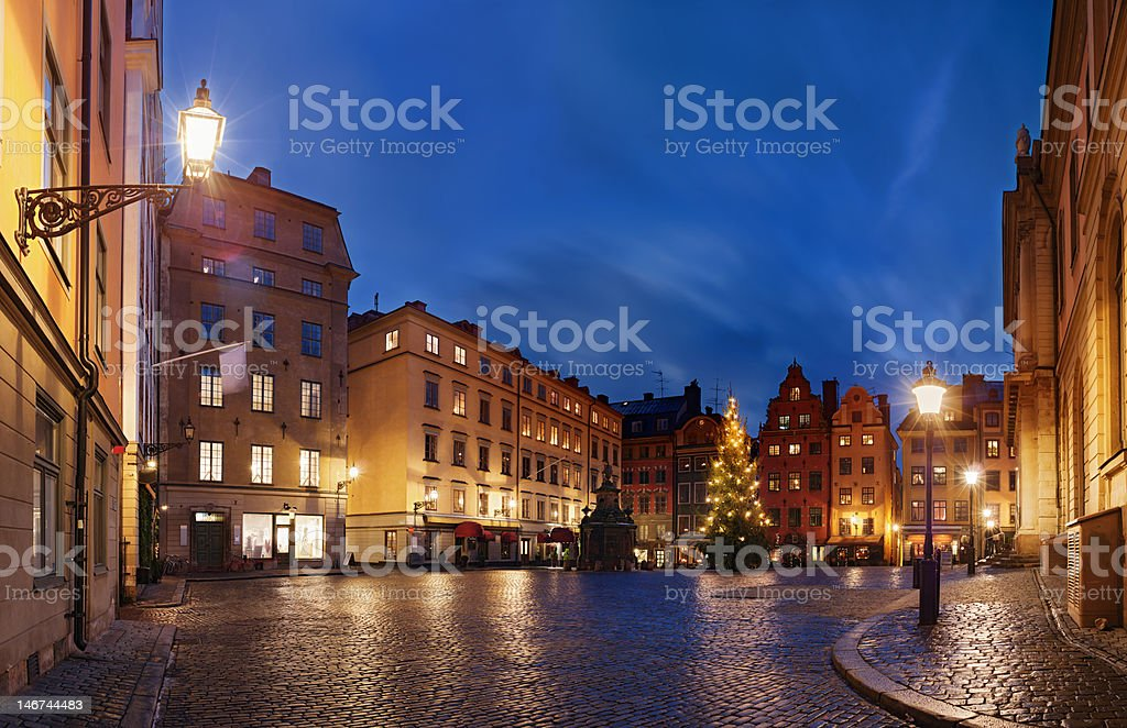 Stortorget  at Chritmas time royalty-free stock photo