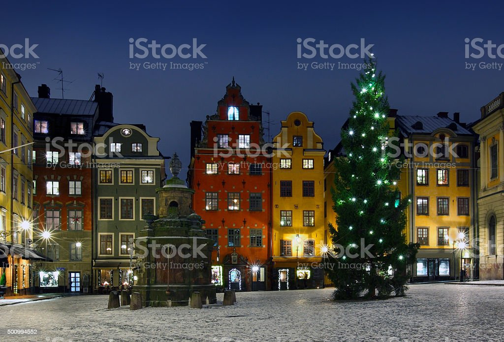 .Stortorget at Chritmas time stock photo