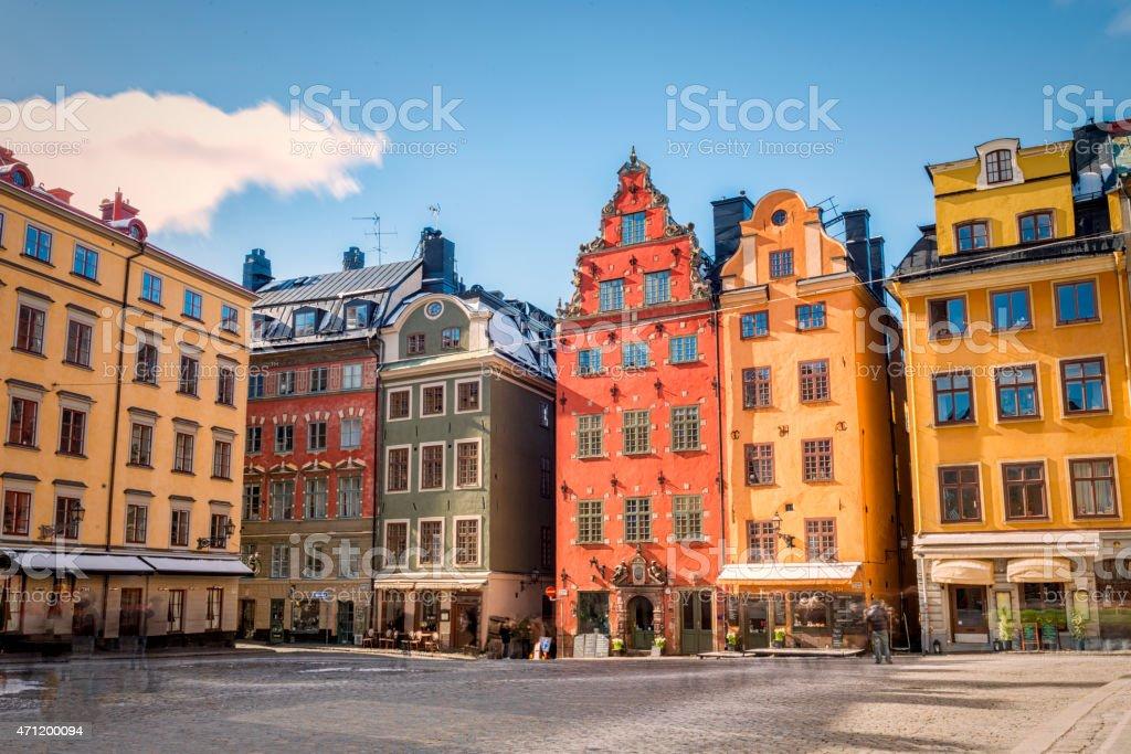 Stortorget in Gamla stan, Stockholm, Sweden stock photo