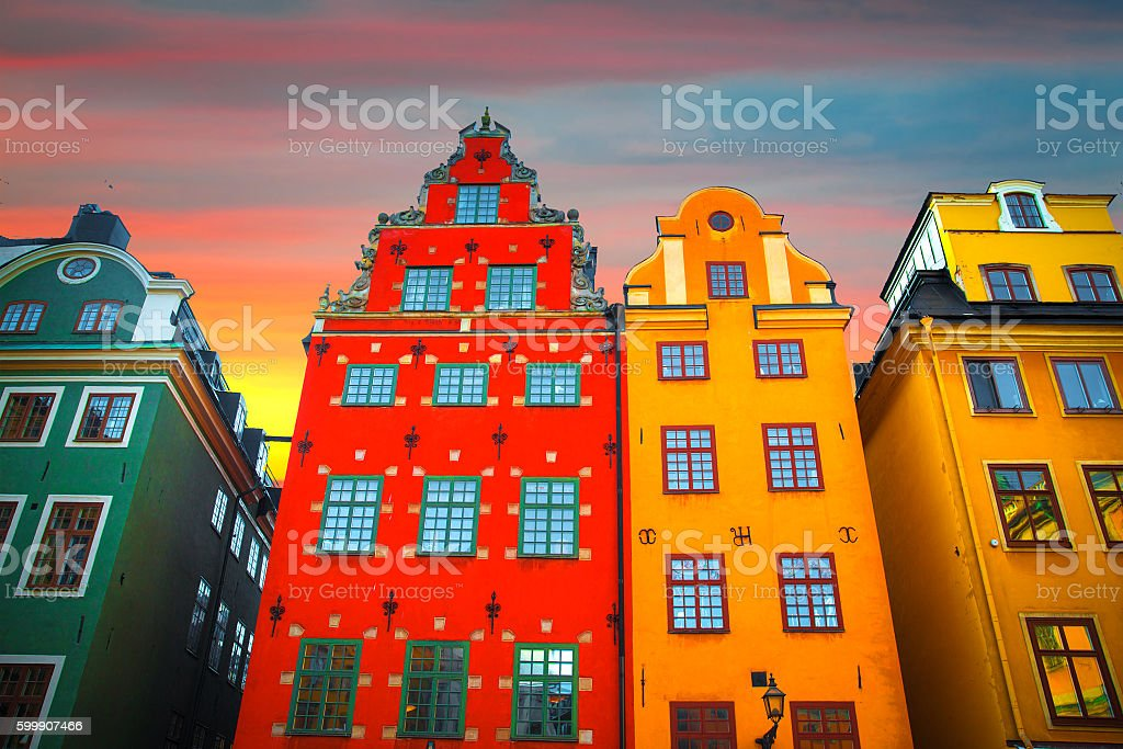 Stortorget place in Gamla stan stock photo