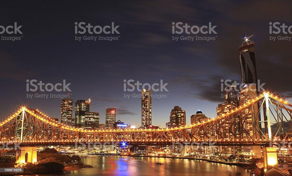 Story Bridge, Brisbane stock photo