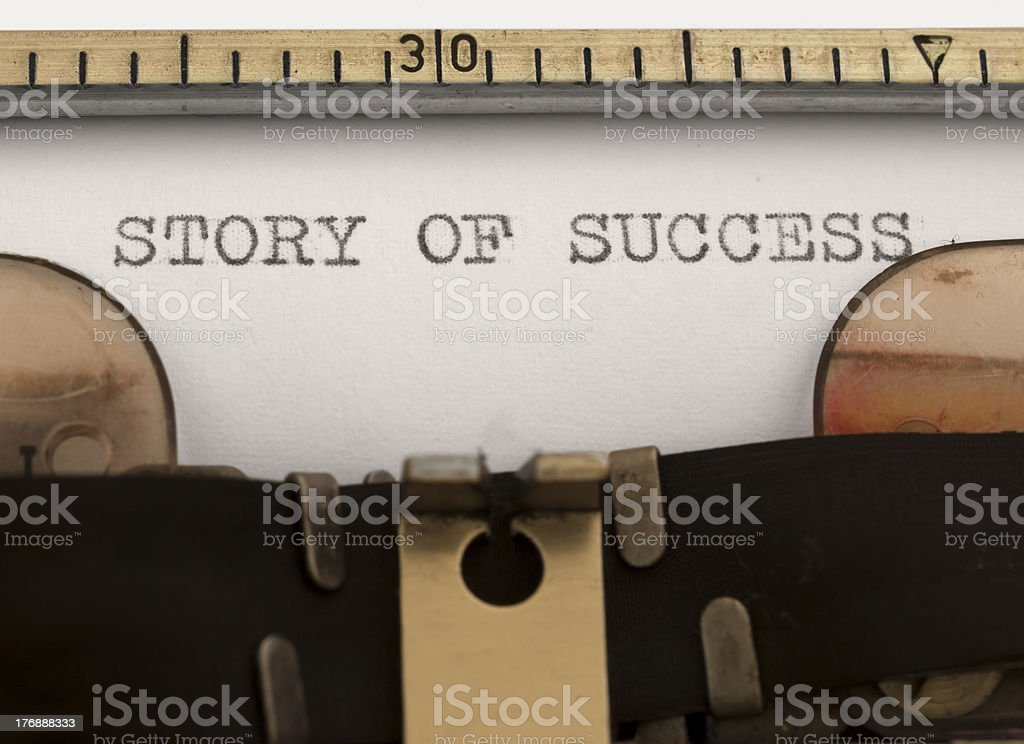 story of success title stock photo