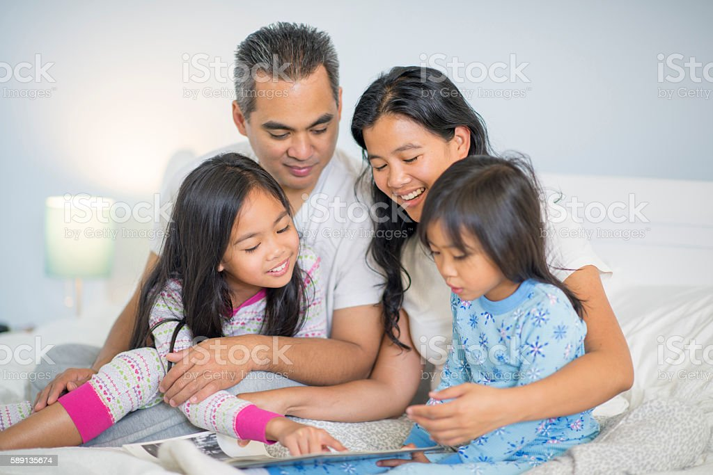 Story Time Before Bed stock photo