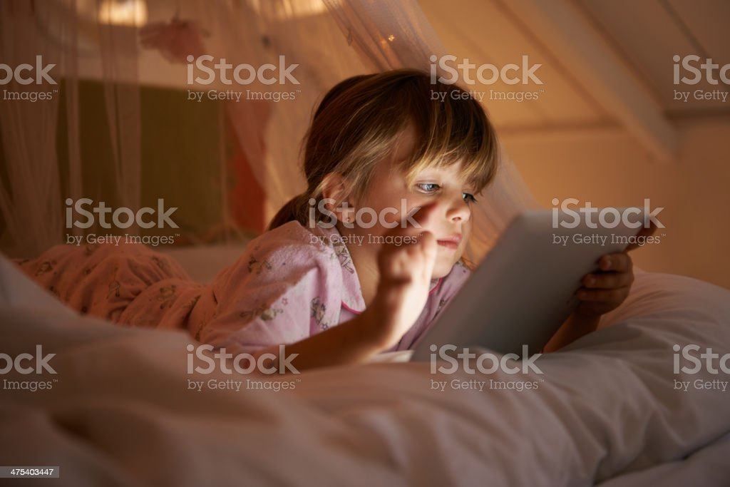 Story time in the digital age stock photo