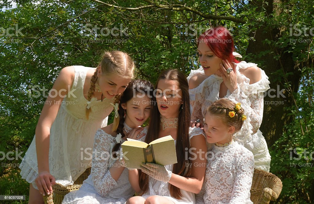 Story Time one stock photo