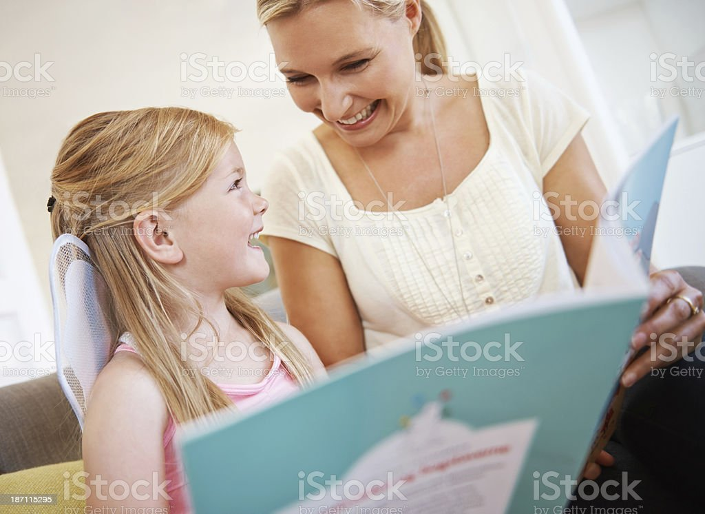 Story time with mom royalty-free stock photo