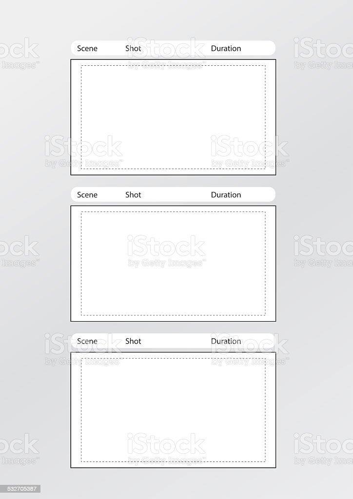 Storyboard Template Vertical X3 Center Stock Photo 532705387 | Istock