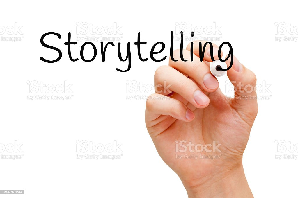Storytelling Black Marker stock photo