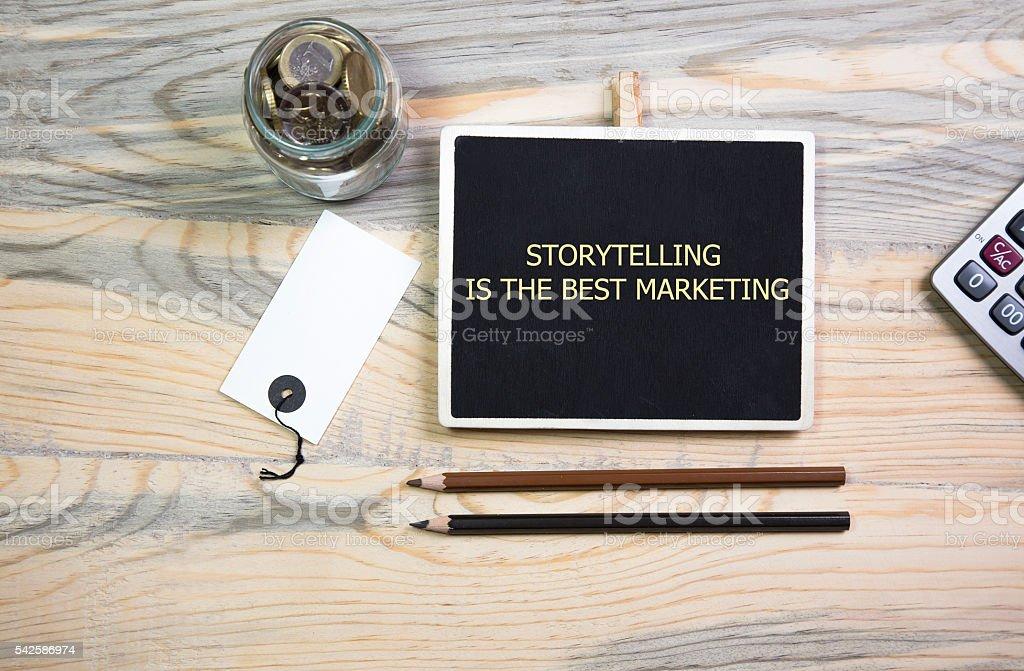 Storytelling is the best Marketing, stock photo