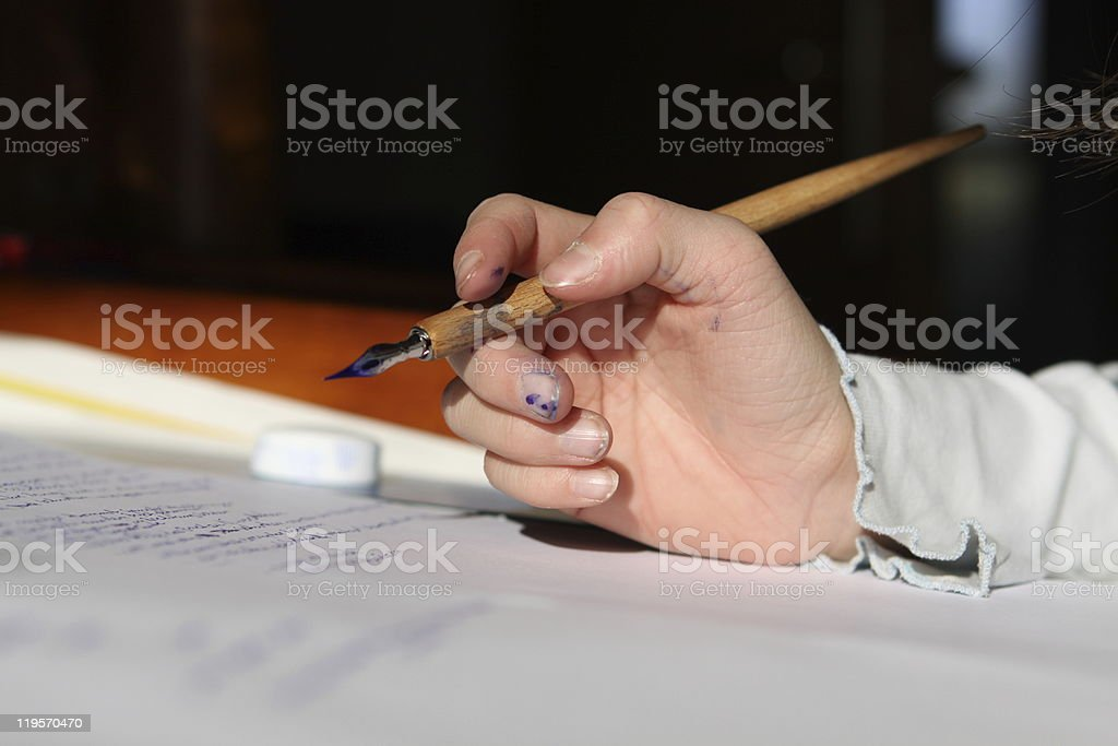 storytelling with ink royalty-free stock photo
