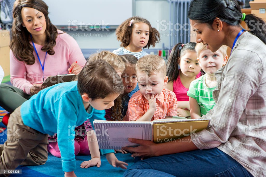 Storytime at Nursery stock photo