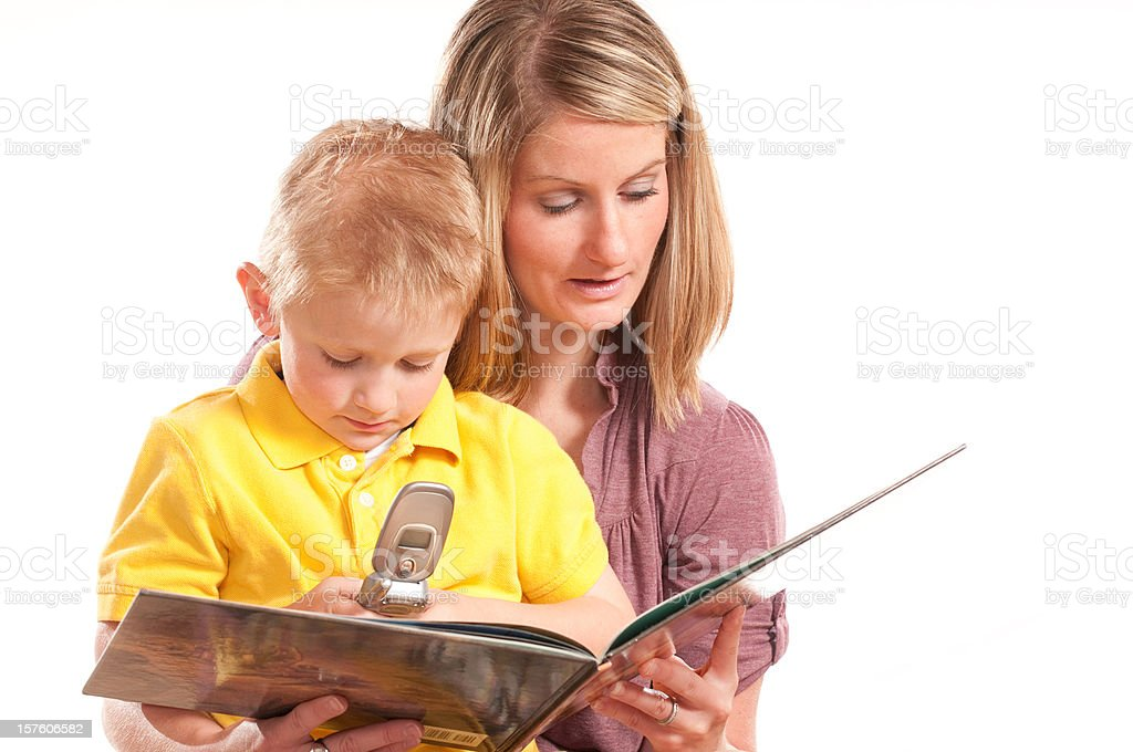 Storytime Texting royalty-free stock photo