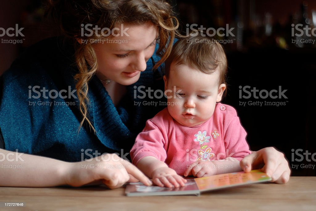 Storytime with baby 2 stock photo