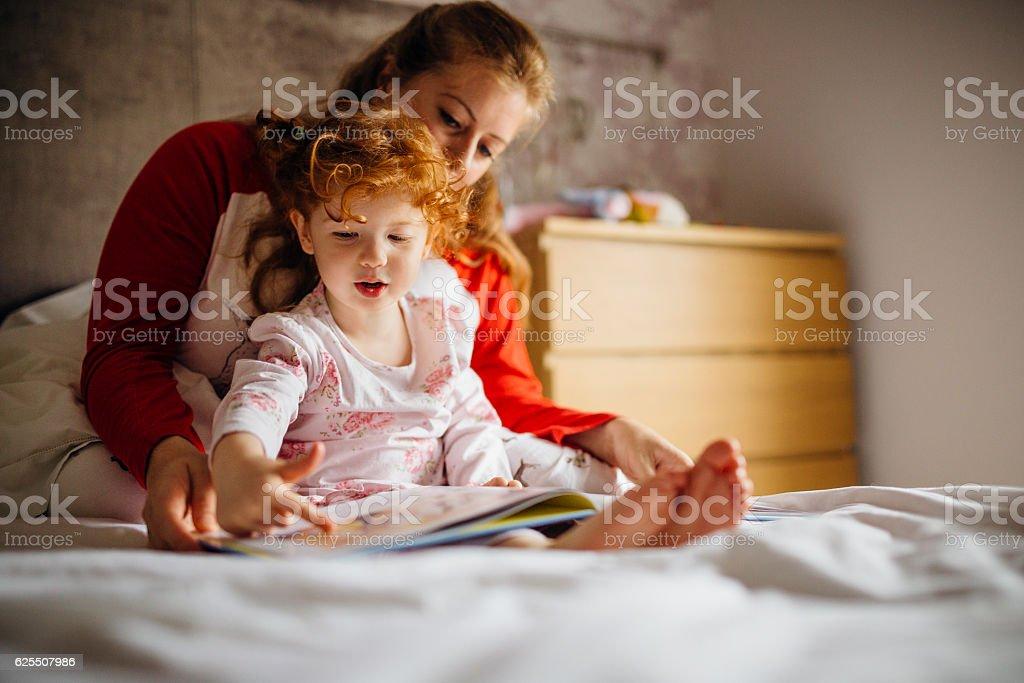Storytime with Mum stock photo