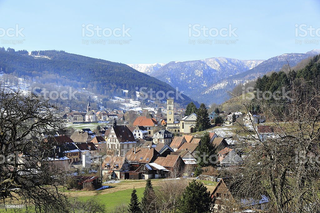 Stosswihr in the Munster Valley stock photo