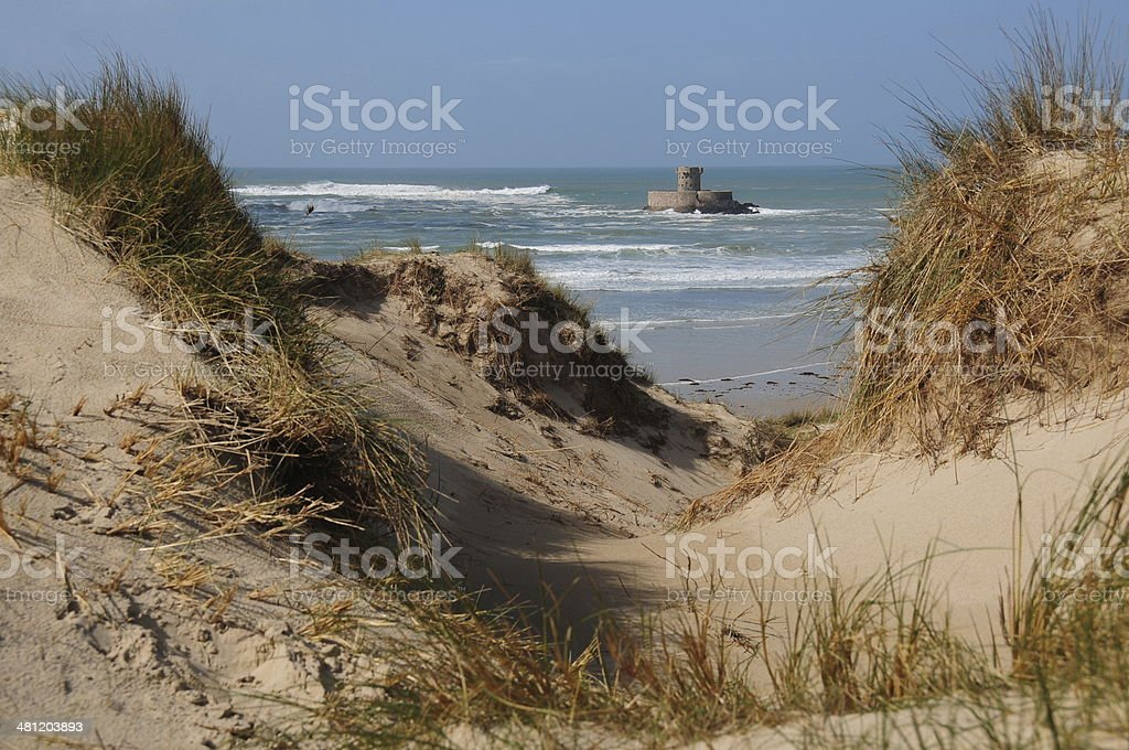 St.Ouen Bay,Jersey,U.K. stock photo