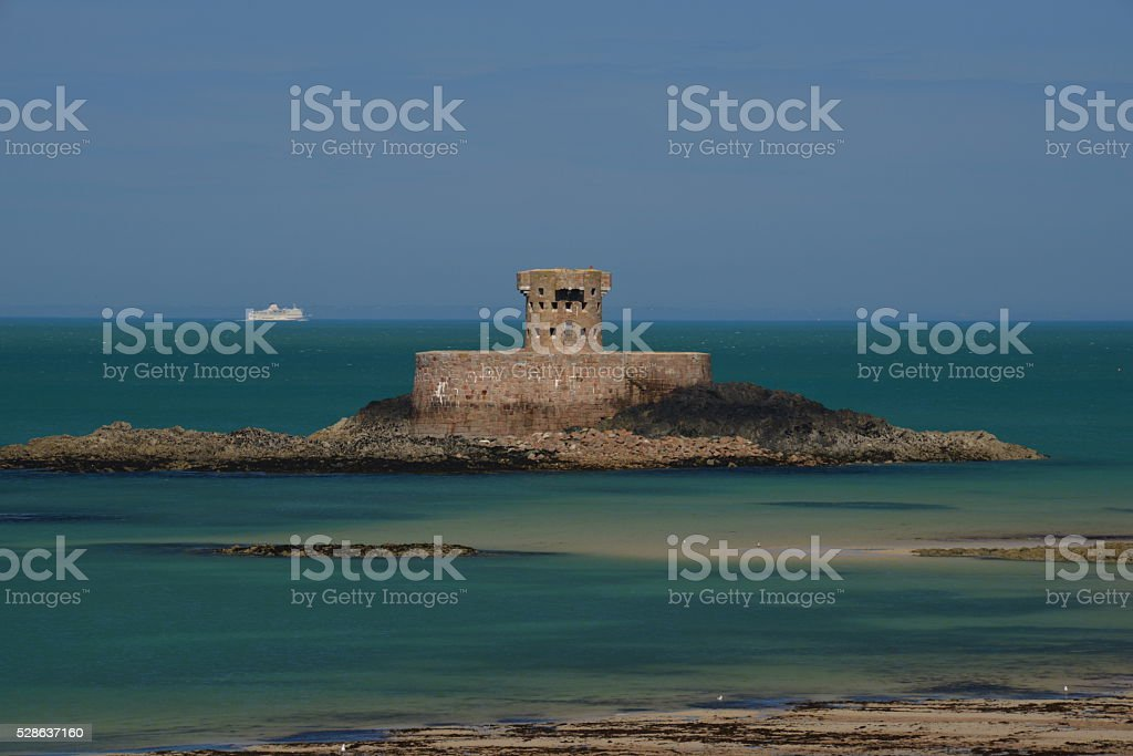 St.Ouens Bay, Jersey, U.K. stock photo