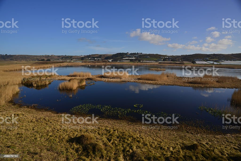 St.Ouen's pond, Jersey, U.K. stock photo