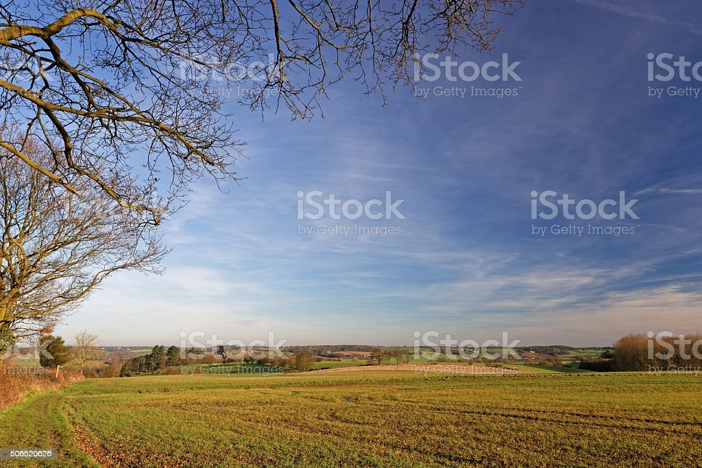 Stour Valley,UK, in Winter stock photo