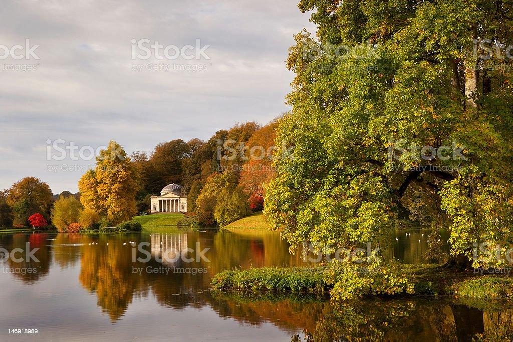 Stourhead Gardens, Wiltshire, UK stock photo